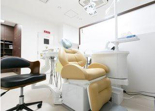診療チェアの衛生管理にも気を使っています。