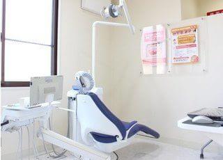 診療室には仕切りがあり、周りを気にせずに治療を受けていただけます。