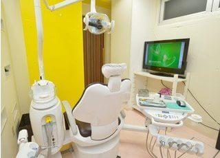 診療室です。丁寧にご説明いたします。