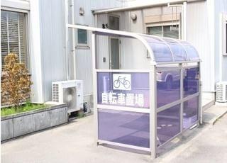 自転車置き場も設置しています。