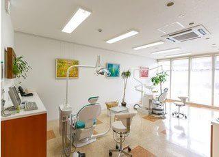 開放的な診療室です。
