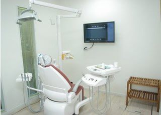 糸川歯科医院の診察室です。丁寧なご説明をおこなっております。