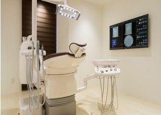 診療室は個室なので、プライベート空間をお楽しみいただけます。