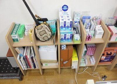 院内にはおすすめの歯科用品を置いています。