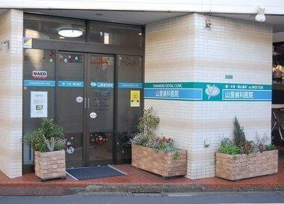 入り口には患者様に癒しを与える植物を植えています。