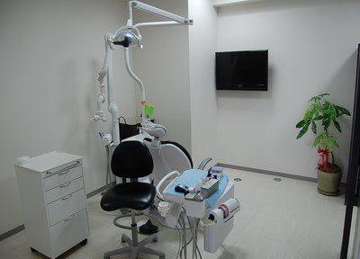 広い診療室にはテレビがあります。