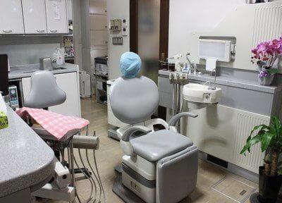 診療室です。治療についての不安点などがありましたら、お気軽にご相談ください。