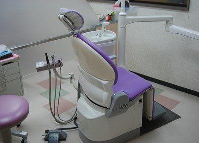 清潔な診療チェアです。