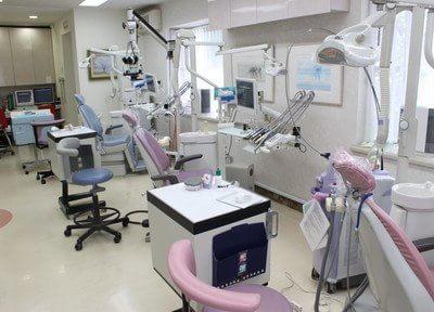 広々とした診療室です。白を基調とした空間は、清潔感があります。