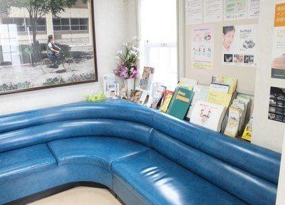 待合スペースです。診療前後は、こちらでゆっくりおくつろぎください。