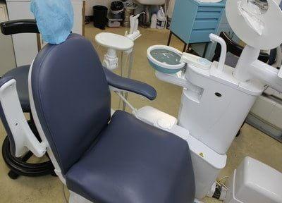 診療チェアです。衛生管理にも気をつけています。