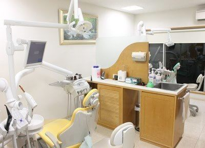 診療室は区切られ、プライバシーに配慮されています。