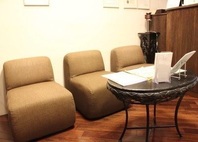 オシャレなカフェのような待合室です。