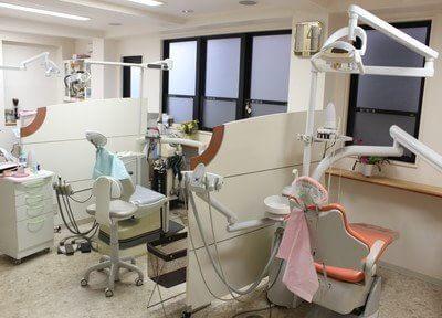 診療室はパーテーションで区切ってあるので、安心して治療を受けていただけます。