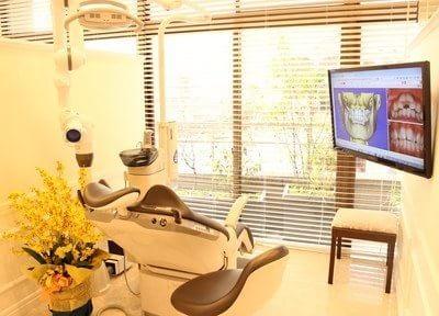 大きな画面で患者様にわかりやすく説明できるよう大きなモニターがあります。