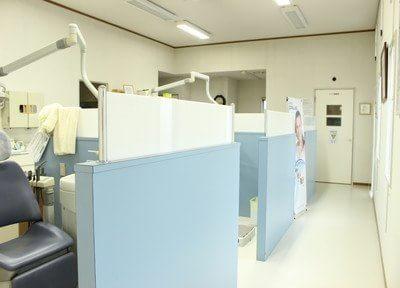 診療室です。広く快適な空間です。