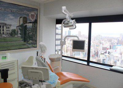 診療スペースはビル21階からの眺めを一望できます。