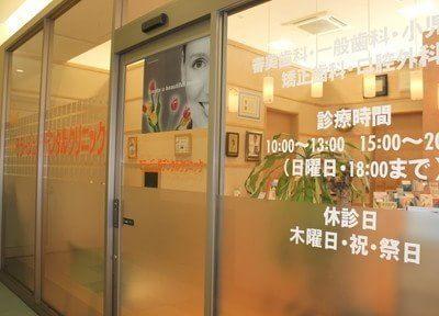 クリニック入り口は、モラージュ柏2階にあります。