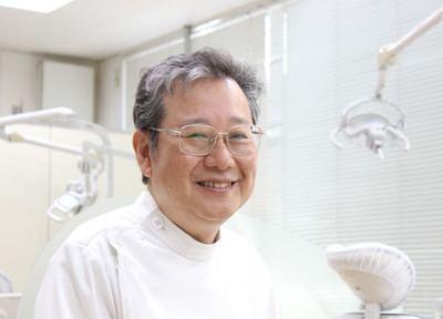 村山ファミリー歯科の村山院長です。患者様の笑顔が見れるよう診療に努めています。
