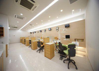 通常の診療スペースから半個室から個室の診療室を設けております。様々な治療やシーンに対応出来ます。
