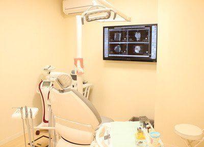 診療室です。個室性なのでプライベート空間をお楽しみいただけます。