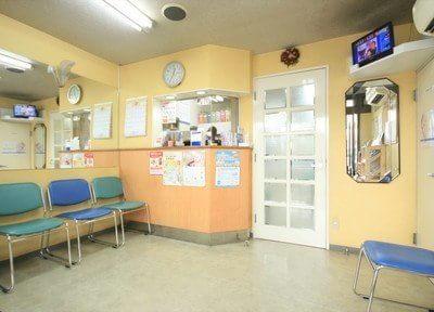 広々とした待合室です。