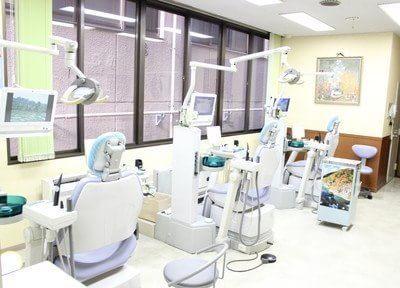 広い診療室で治療を行います。