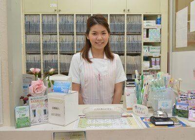 受付です。桜台歯科クリニックのスタッフがお待ちしております。