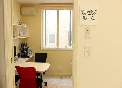 こちらのお部屋で親身になって皆様の症状をお伺いします。