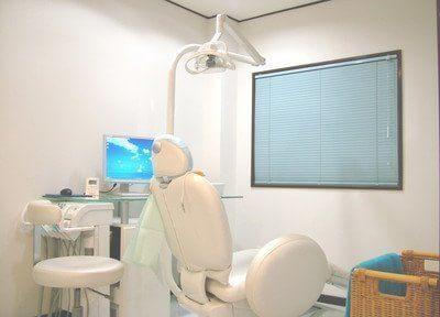 診療チェアです。清潔感が保たれ、安心して治療を受けて頂けます。