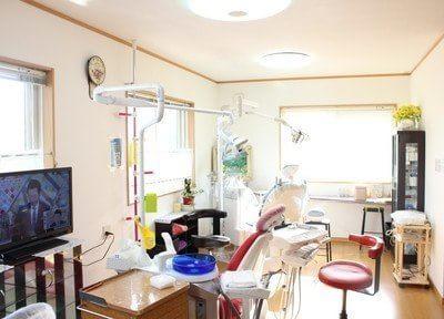 診療室です。居心地の良いアットホームな雰囲気です。
