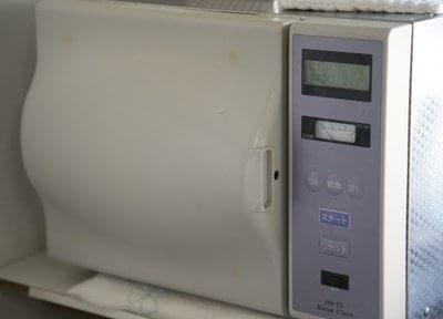 患者様に使用する医療器具は全て滅菌処理をしています。