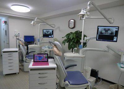 診療室です。モニターを使って詳しくご説明します。