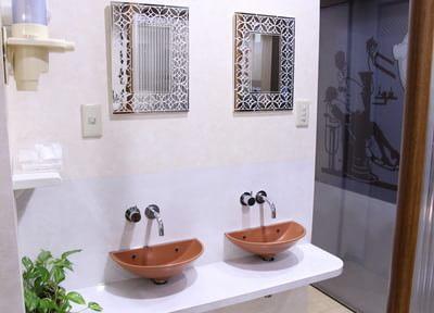 お手洗い場は清潔にしてあります