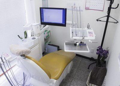 診療チェアとその周りは隅々まで綺麗です。