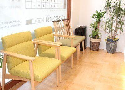 待合スペースです。診療をお待ちの間、こちらでお待ちください。
