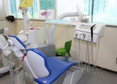 診療チェアです。院内感染を防ぐため滅菌を徹底しております。ご安心ください。