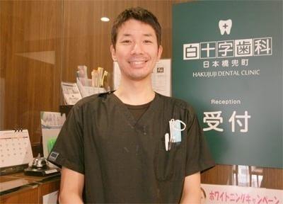 話し好きの院長です。被せ物や入れ歯の治療を得意としています。