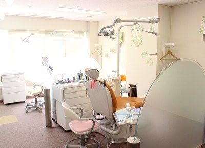 診療室は明るく清潔感があります。