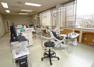 診察室は広々としております。