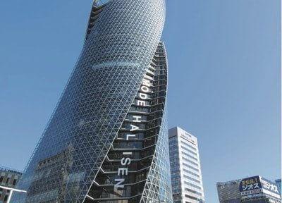 外観です。名駅のシンボルにもなる、スパイラルタワーのB2階に当院がございます。
