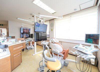 診療室は広くゆったりと治療を受けていただけます。