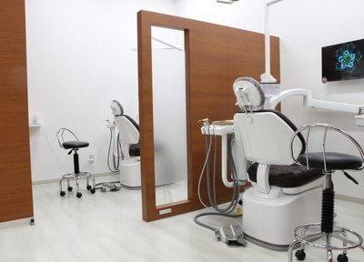 診療室は仕切られ、プライバシーに配慮しています。
