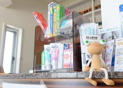 各種歯科用品をご用意しております。お求めの際はどうぞスタッフまでお声かけください。
