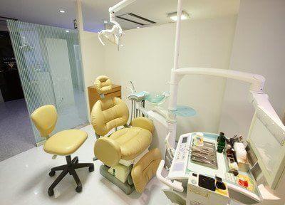 清潔感のある診療スペースです。