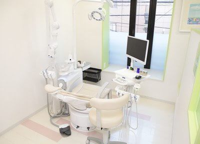 各診療室ごとにパーテーションで仕切られていますので、周りの目を気にすることなく治療が受けられます。
