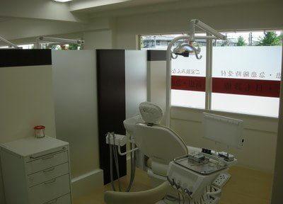 診療スペースは区切られており、周囲を気にせず治療を受けられます。