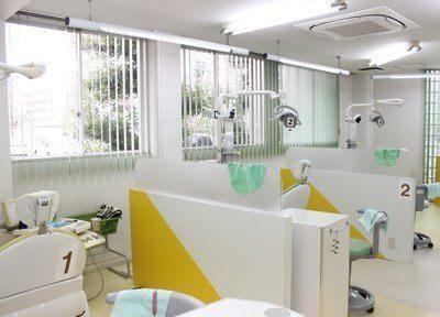 仕切りのある診療室で治療を行います。
