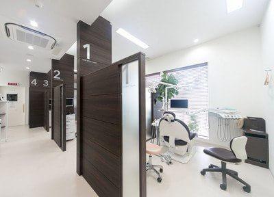 診療室はパーテーションで分かれているので、皆様のプライバシーをお守りします。