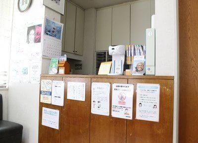 待合室です。治療の前後ではこちらでお待ちください。
